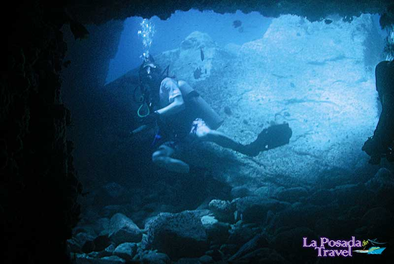Swim-through cave- San Pedro Island